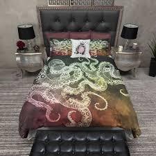 dark fall color octopus bedding bohemian duvet coverduvet