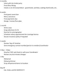 Printable Wedding Timeline Checklist Wedding Timeline Checklist Wedding Photography