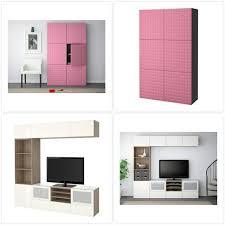 Impressive Besta Furniture In Ikea Besta Cabinet Pink Furniture
