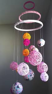 fresh yarn ball chandelier for pink yarn fabric ball baby mobile 81 chandeliers for