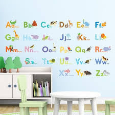 nursery wall stickers alphabet wall