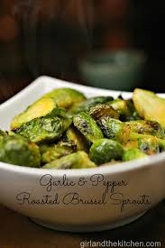 garlic and pepper roasted brussel sprouts