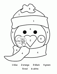 cute penguin coloring pages. Exellent Cute Color By Number Cute Penguin Coloring Page For Kids Education  Pages Printables Free  Wuppsycom Inside Coloring Pages E