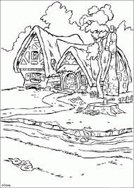 Small Picture Princess Snow White House Coloring Pages Disneys Princess
