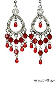 red chandelier earrings red chandelier earrings with silver pewter charms by ruby red chandelier earrings red red chandelier earrings