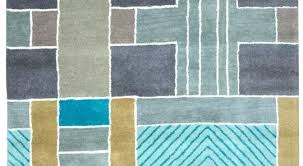 blue geometric rugs light hand tufted area rug and green