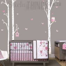 owl trees wall art sticker birch decal on tree wall art for baby nursery with poem wall decals removable art vinyl baby girl stickers for