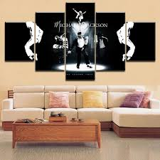 5 Pieces <b>HD Printing</b> Painting Michael Jackson <b>Type</b> Poster Music in ...