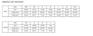 All Inclusive Mystic Harness Size Chart Mystic Harness Size