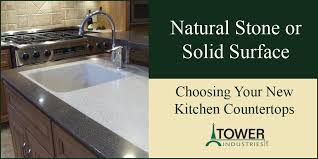 Natural stone kitchen countertops Manufactured Quartz Natural Stone Or Solid Surface Choosing Your New Kitchen Countertops Hgtvcom Natural Stone Or Solid Surface Choosing Your New Kitchen