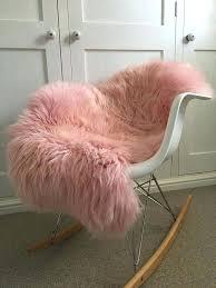 pink sheep skin rug