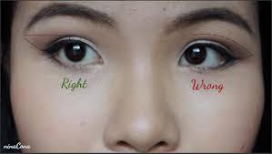 ninacona mẹo trang điểm nâng mắt eye lift makeup trick