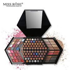 miss rose professional makeup kit full color matte shimmer eyeshadow palette highlighter face powder concealer
