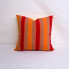 indoor outdoor sunbrella bravada salsa 20x20 vertical striped throw pillow quick ship