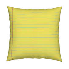 Lined Paper Yellow Legal Fabric Mayabella Spoonflower