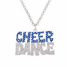 online buy whole dance pendant necklace from dance crystal letters of cheer dance pendant necklace jewellery gifts for girls mainland