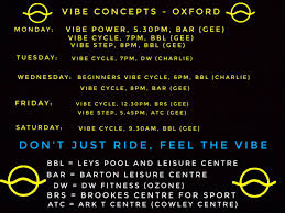 vibeconcepts cles in oxford vibeoxford vibecycle dwsportsfitness leyspools arktcentre brookessport fusion ls oxfordfitnes twitter