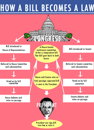 Bill To Law Chart How A Bill Becomes A Law American Government