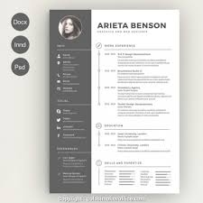Awesome Unique Resume Template Free Ideas Design Cv Creative