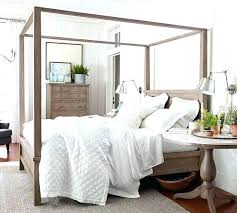 Affordable Queen Bed Frame Canopy Bed Frame Farmhouse Canopy Bed ...