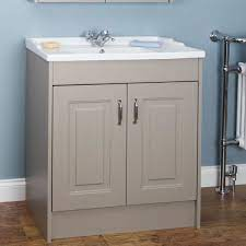 Park Lane Traditional Taupe Grey Floor Standing Vanity Unit Basin 800mm Width Traditional Bathroom Vanity Vanity Bathroom Vanity Units
