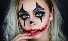 a creepy glamorous clown makeup tutorial