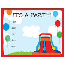 kids birthday party invitations bounce house fill in kids birthday party invitations and envelopes 24 count