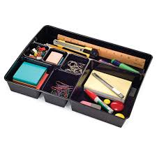 com officemate oic achieva deep drawer tray recycled black 26241 office desk organizers office s