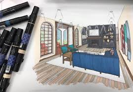 interior design using prismacolor interior design sketches i12 interior