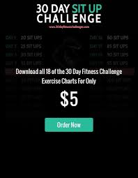30 Day Sit Up Challenge Exercise 30 Day Plank Challenge