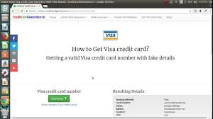 generate fake visa mastercard discover americanexpress jcb credit card number
