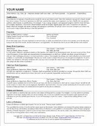 Babysitter Resume Sample Awesome Example Nanny Resume Examples Of