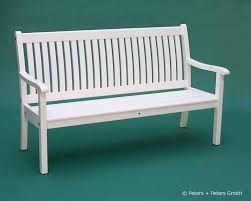 wooden garden benches and garden furniture painted white in a traditional german island way 25 years quarantee