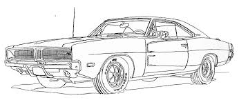 Small Picture Fast And Furious Charger Coloring Pages Sketch Template Inside