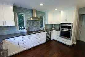 transitional style gray white g shaped kitchen remodel with custom cabinets in trabuco canyon
