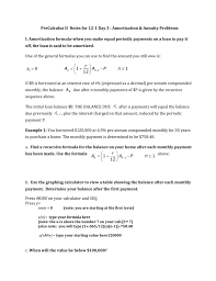 Home Amortization Precalculus Ii Notes For 12 1 Day 3 Amortization Annuity