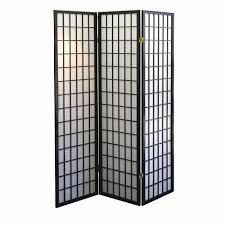 home decorators collection  ft black panel room divider
