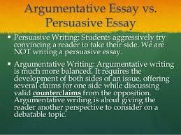 argumentative essay argumentative essay vs persuasive