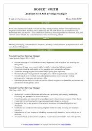 casino manager resumes assistant food and beverage manager resume samples qwikresume