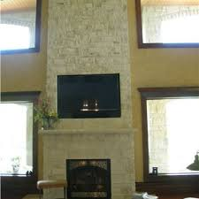 indoor stone fireplace. cottonwood snapped veneer fireplace indoor stone