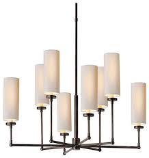 thomas o brien ziyi 8 light chandelier bronze