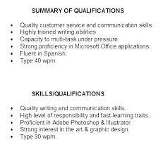Skill Summary Resume Examples Resume Summary Example Resume Sample ...