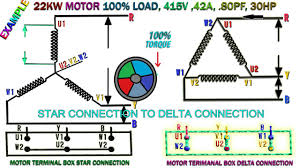how to work induction motor star delta connection 22kw induction motor how to run star delta you