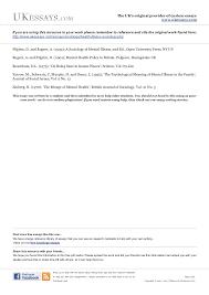 sociology essays mental health illness in sociology