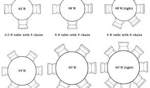 6 foot round table seats how many tables that seat 8 intended for designs 5