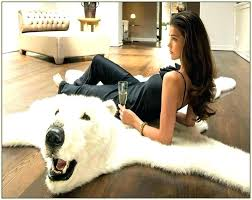 elegant faux polar bear rug for faux bearskin rug bizarre yet awesome bear skin rugs design elegant faux polar