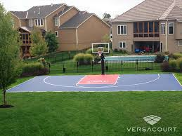 Backyard Sport Court Cost With Basketball Surfaces Images On Backyard Tennis Court Cost