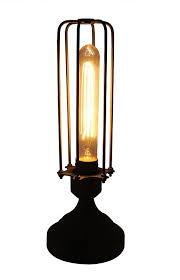 industrial cage lighting. Burnham Industrial Cage Table Lamp Lighting