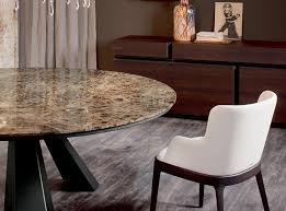 cattelan italia eliot round marble top dining table