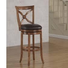 american woodcrafters provence 34 in light oak swivel tall bar stool